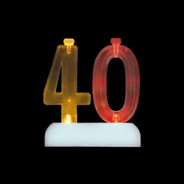 4 Bougies avec 40 Clignotant