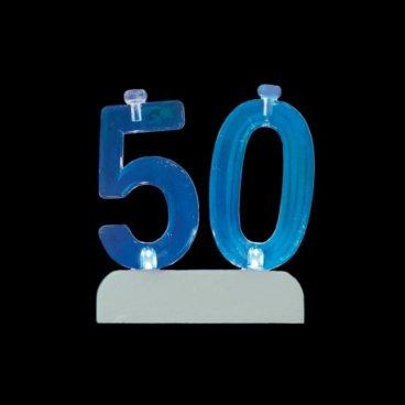 4 Bougies avec 50 Clignotant