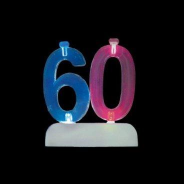 4 Bougies avec 60 Clignotant