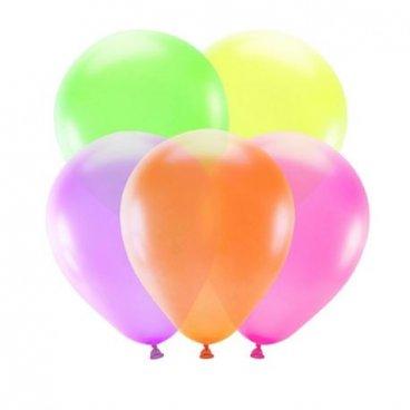 5 Ballons de Couleur Néon