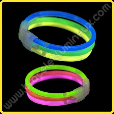Bracelets Lumineux Triple (33 u.)