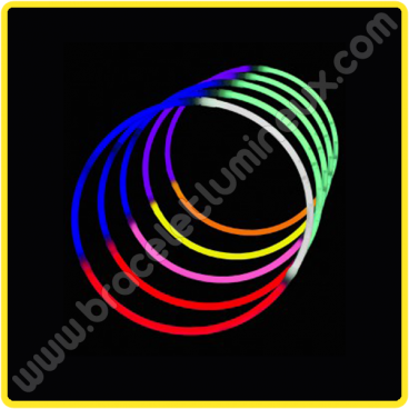 Colliers Lumineux Tricolores (50 u.)