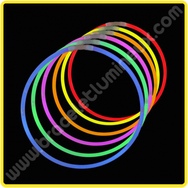 Colliers Lumineux Unicolores (50 u.)