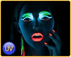 maquillage fluo phosphorescent braceletlumineux com. Black Bedroom Furniture Sets. Home Design Ideas