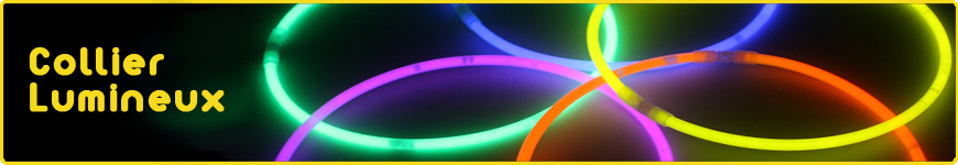 collier lumineux fluo
