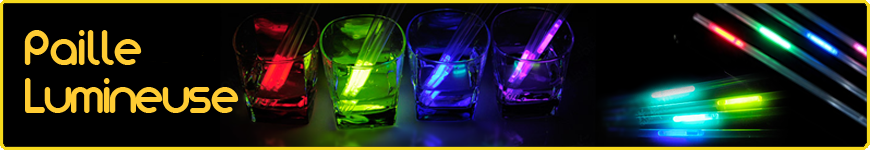 paille lumineuse fluo