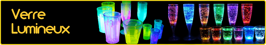 verre lumineux fluo